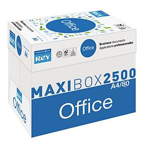 Rey Office Papier A4 blanc 80g éco-responsable - Boîte de 2500 feuilles