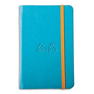 RHODIA Carnet RHODIArama 9x14cm 192 pages lignées couverture rembordée turquoise