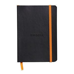 Rhodia Carnet souple Rhodiarama A5 (14,8 x 21 cm), 160 pages réglure point DOT de 90 g/m² - Couverture noire