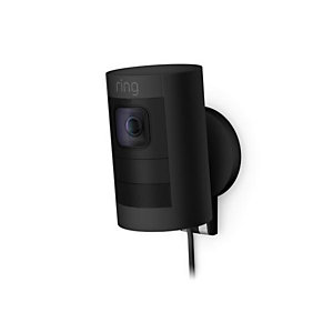 Ring Stick Up Cam Wired, Cámara de seguridad IP, Interior y exterior, Inalámbrico y alámbrico, Caja, Ceiling/Wall/Desk, Negro 8SS1E8-BEU0