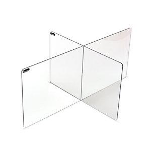 Rocada Panel separador modular para hostelería, 60 x 80 x 50 cm, 2 personas