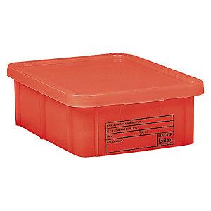 Rode bak HACCP met deksel 35 L Gilac