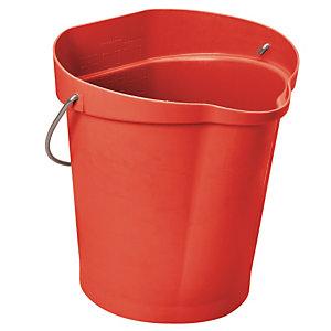 Rode voedingswaardige emmer Vikan 12 L