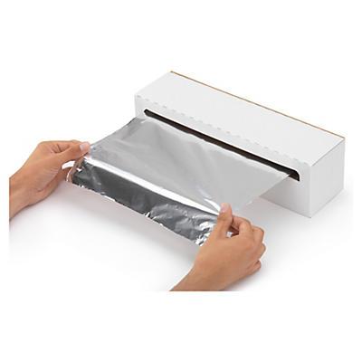 Bobine de papier aluminium Rajafood en boîte distributrice##Rol aluminiumfolie in dispenserdoos