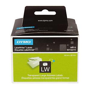 Rol van 260 plastic adresetiketten L. 89 x B. 36 mm