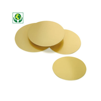 Rond carton pâtisserie or / doré