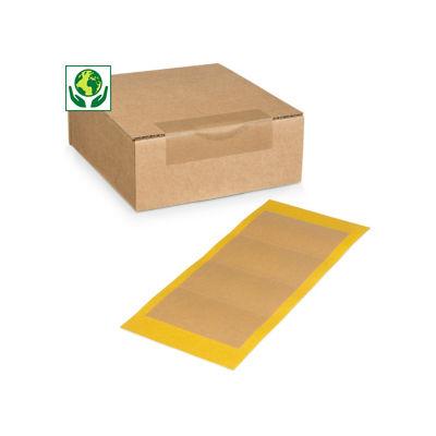 Rond etiket en plakband van papier