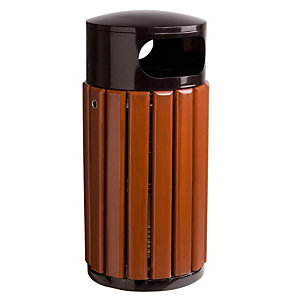 Ronde vuilnisbak in hout Rossignol 40 L