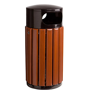 Ronde vuilnisbak in hout Rossignol 60 L