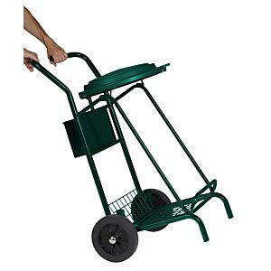 ROSSIGNOL Chariot de voirie mobisac - roues caoutchouc - 110l - vert mousse