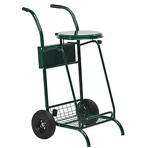 ROSSIGNOL Chariot de voirie mobisac - roues pneumatiques - 110l - vert mousse