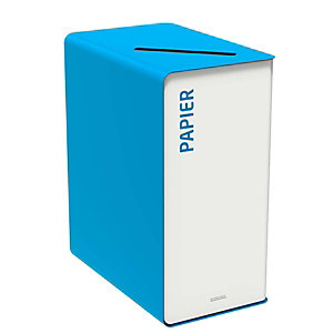 Rossignol Cubatri Poubelle de tri sélectif du papier en acier 65l - Bleu
