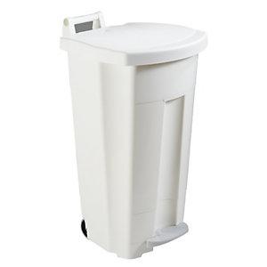 Rossignol Poubelle à pédale Boogy  90 litres - Blanc