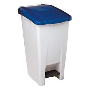 Rossignol Poubelle à pédale Mobily  60 litres - Couvercle Bleu