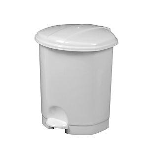 Rossignol Poubelle à pédale Prima, 5 litres - Blanc