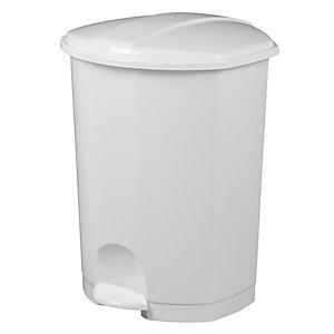 Rossignol Poubelle à pédale Prima, 50 litres - Blanc