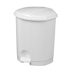 ROSSIGNOL Poubelle à pédale Prima, 7 litres - Blanc