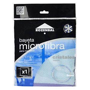 ROZENBAL Bayeta de microfibra para cristales, 36 x 36 cm, azul