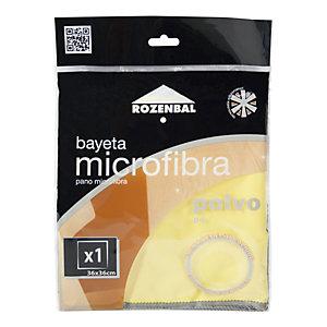 ROZENBAL Bayeta de microfibra para el polvo, 36 x 36 cm, amarilla