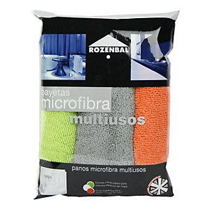 ROZENBAL Bayetas de microfibra multiusos, 32 x 32 cm, colores surtidos