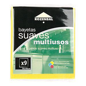 ROZENBAL Bayetas multiusos, 36 x 40 cm, colores surtidos