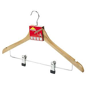 ROZENBAL Perchas combinadas de madera barnizada