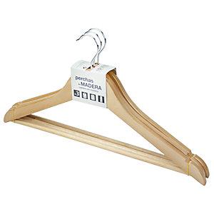 ROZENBAL Perchas de madera barnizada