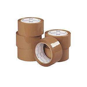 Ruban adhésif polypropylène havane RAJA Standard, lot de 6