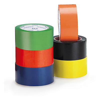 Ruban adhésif couleur PVC RAJA Résistant, 37 microns