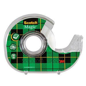 Ruban adhésif invisible Scotch® Magic Tape 19 mm x 25 m sur dévidoir plastique rechargeable