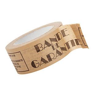 Ruban adhésif en papier kraft 80g/m2 bande de garantie 50 mm x 50 m, lot de 6 rubans