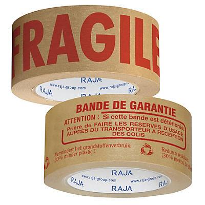 Ruban adhésif en papier kraft imprimé avec message 57 g/m² RAJA