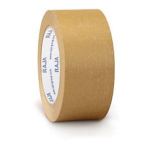 Ruban adhésif en papier kraft RAJA Standard 57 g/m² brun 50 mm x 50 m, lot de 36 rouleaux.