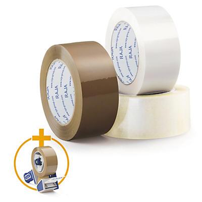 Ruban adhésif polypropylène silencieux RAJA Résistant, 35 microns