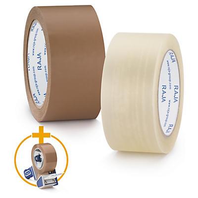 Ruban adhésif polypropylène silencieux RAJA Résistant mat, 35 microns