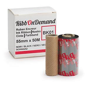 Ruban encreur 50 mm x 5 m pour imprimante RibbOnDemand