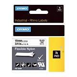 Ruban nylon  Dymo 19 mm x 3,5 m coloris blanc pour titreuse Rhino 4200##Nylon lint Dymo 19 mm x 3,5 m kleur wit voor titelapparaat Rhino 4200