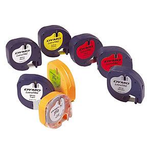 Ruban plastique Dymo pour titreuse Letratag plus coloris jaune