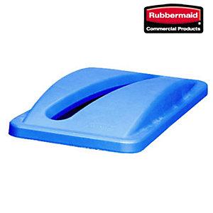 Rubbermaid Commercial Products Coperchio per bidone rifiuti Slim Jim Blu 288 x 512 x 70 mm