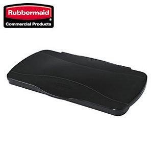 """Rubbermaid Commercial Products Coperchio per raccolta differenziata """"Slim Jim"""" incernierato con chiusura ermetica - Colore nero - Dimensioni cm 56 x 34 x 3"""