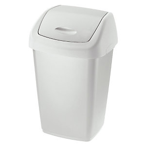 Rubbermaid Commercial Products Couvercle basculant collecteur blanc 50 litres