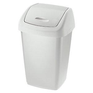 Rubbermaid Commercial Products Couvercle basculant collecteur blanc 50litres