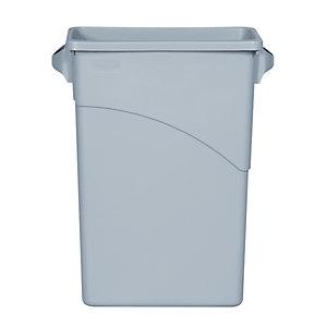 Rubbermaid Commercial Products Slim Jim collecteur gris clair 60litres 279x587x632mm