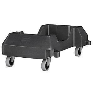 Rubbermaid Commercial Products Slim Jim Socle roulant pour collecteur de tri sélectif -Résine Noir