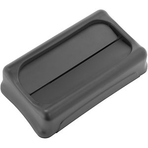 RUBBERMAID Slim Jim afvalbakdeksel zwart 289 x 521 x 127 mm