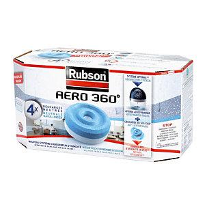 RUBSON 4 recharges Rubson pour absorbeur d'humidité Aéro 360°