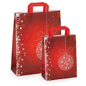 Sac cadeau Noël à poignées plates