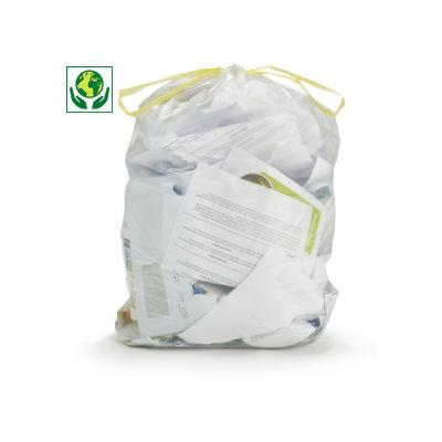Sac-déchets courant à liens coulissants transparent