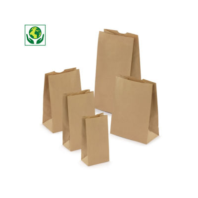 Sac kraft brun 50% recyclé sans poignée