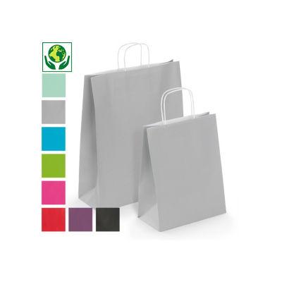 Sac kraft uni couleur UNO##Draagtas van gekleurd kraftpapier UNO